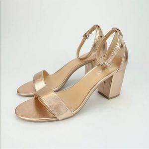 REPORT Womens Payson COPPER Ankle Strap Heels